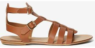 Dorothy Perkins Womens Tan Leather 'Finlay' Sandals