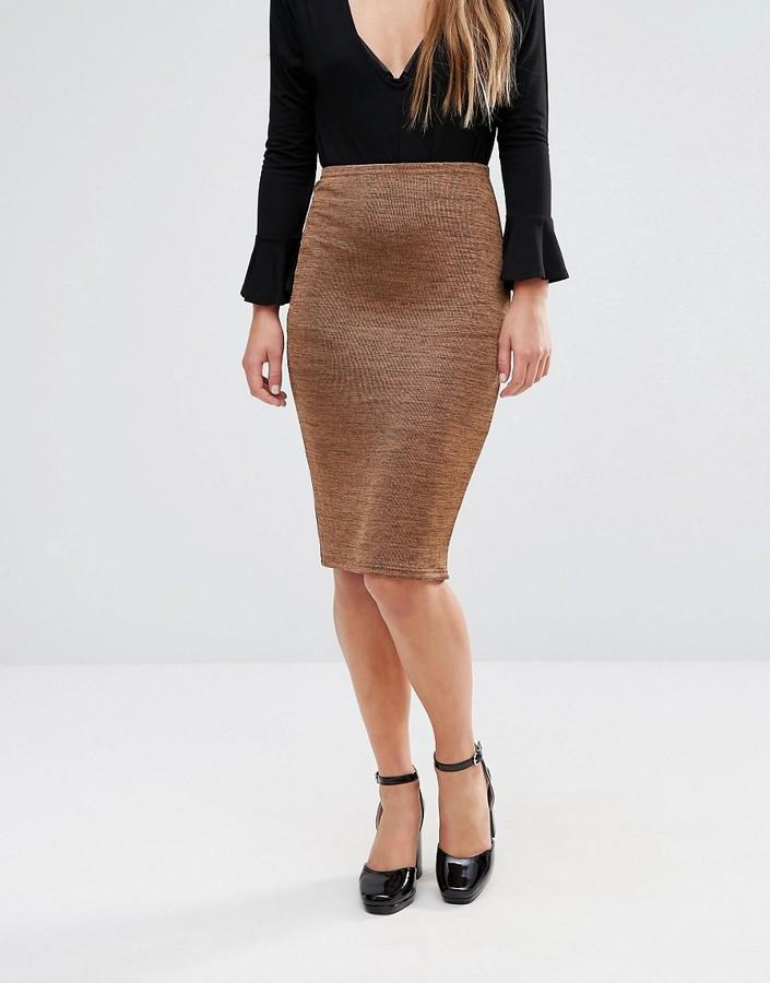 glamorous bodycon midi skirt shopstyle co uk