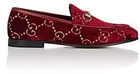 Gucci Women's Bit-Detail Velvet Loafers - Red