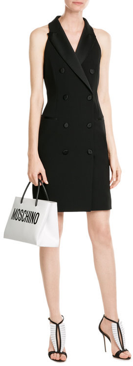 MoschinoMoschino Leather Tote with Logo