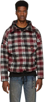 Reese Cooper Red Plaid Wool Anorak Jacket