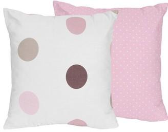 JoJo Designs Sweet Mod Dots Cotton Throw Pillow Sweet