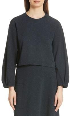 Tibi Eclipse Crop Pique Sweatshirt