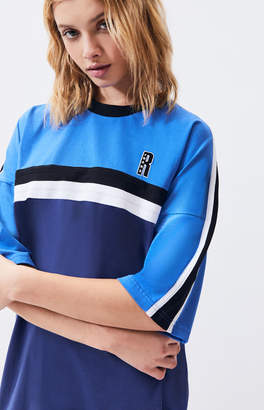 Ragged Jeans Blue Panel T-Shirt Dress