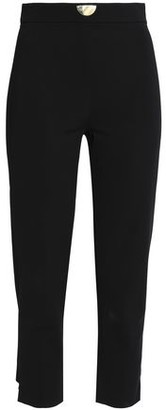Cushnie et Ochs Cropped Embellished Stretch-Crepe Slim-Leg Pants