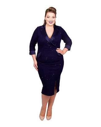 Womens Plus Size Tuxedo Dress Shopstyle Uk