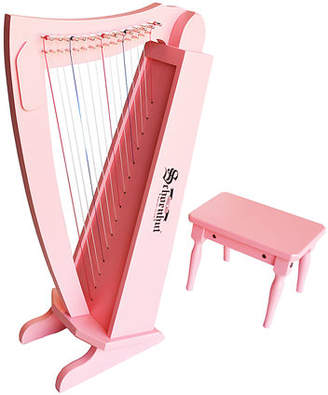 Schoenhut Kids' String Harp Instrument with Bench