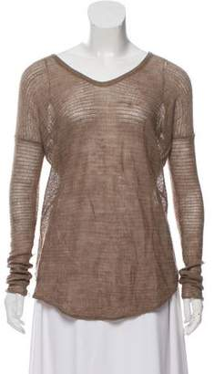 Helmut Lang Semi-Sheer Knit Sweater