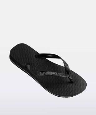 Havaianas Rubber Logo Black Black Grey Thong