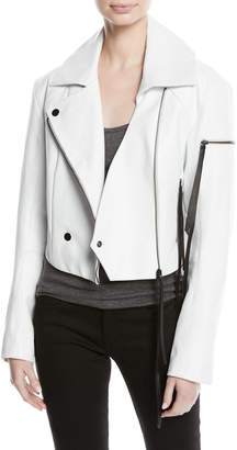 Olivier Theyskens Leather Biker Jacket