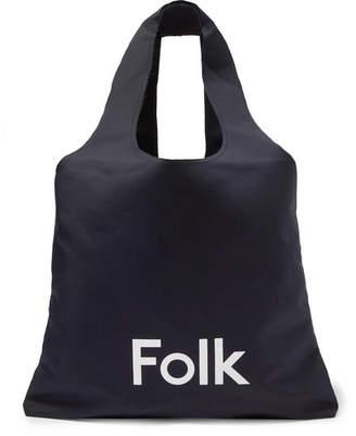 Folk Logo-Print Cotton-Blend Tote Bag - Men - Navy
