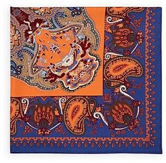 Fairfax Men's Silk Pocket Square - Orange