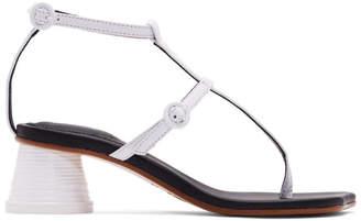 MM6 MAISON MARGIELA White Vachetta Sandals
