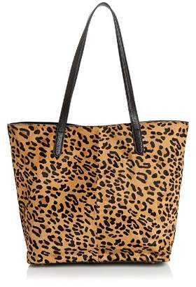 Aqua Leopard Print Calf Hair Tote - 100% Exclusive