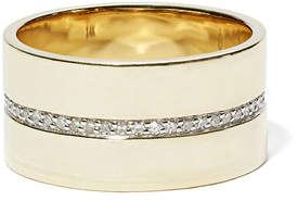 Eriness Cigar Pave Diamond Band
