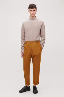 Cos RELAXED CREPE WOOL TROUSERS