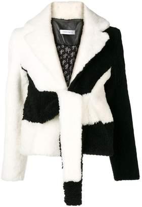 Saks Potts black and white lamb wool jacket