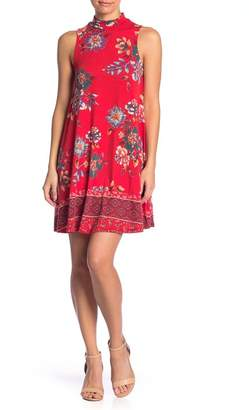 Angie Floral Sleeveless Swing Dress