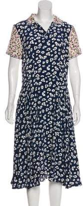Marni Silk Floral Print Dress w/ Tags