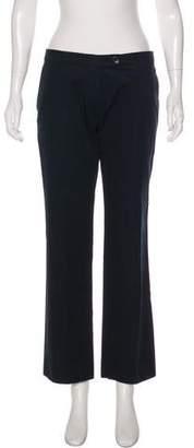 Leroy Veronique Mid-Rise Straight-Leg Pants