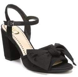 Sam Edelman Eva Textured Fabric Ankle Strap Sandals