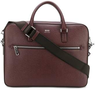 HUGO BOSS logo zipped laptop bag
