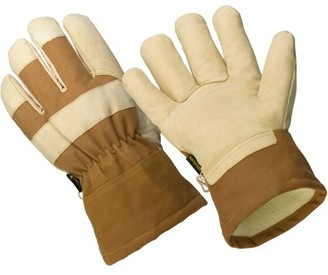 Hands On LP2210-L, The Badger, 3M Thinsulate Lined Premium Goat Grain Leather Palm Glove, 100% Waterproof