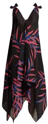 Diane von Furstenberg Quincy Print Cotton Blend Dress - Womens - Black Multi