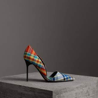 Burberry Tartan Cotton Pumps