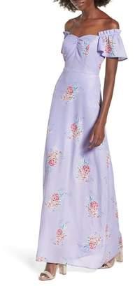 Socialite Off the Shoulder Maxi Dress