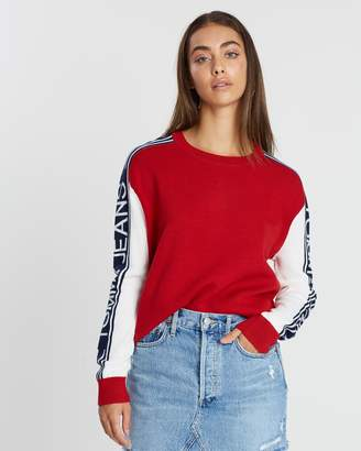 Tommy Jeans Logo Sleeve Colour-Block Sweater