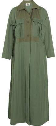 Topshop Redford Oversized Cotton Canvas-Paneled Twill Trench Coat