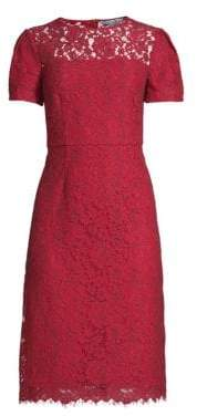 Draper James Women's Lace Sheath Dress - Red - Size 0