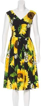 Dolce & Gabbana 2017 Sunflower Print Dress w/ Tags