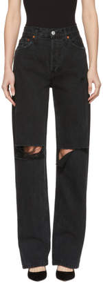 RE/DONE Black Originals High-Rise Loose Jeans