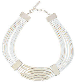 Lafayette 148 New York Multi-Strand Leather Choker Necklace