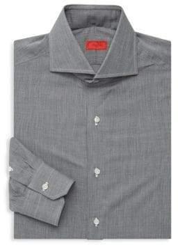 Isaia Regular-Fit Flannel Dress Shirt