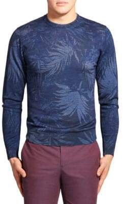 Etro Leaf Print Wool-Blend Sweater