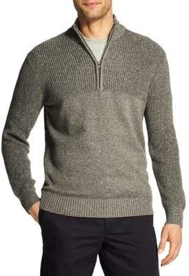 Izod Big Tall Quarter-Zip Marled Sweater