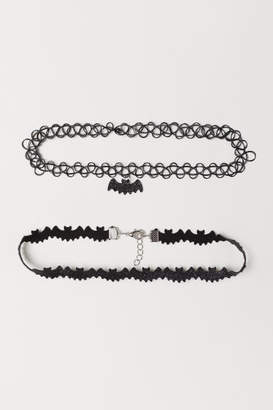 H&M 2-pack Necklaces - Black