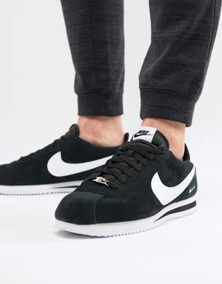 Nike Cortez Suede Sneakers In Black 902803-003