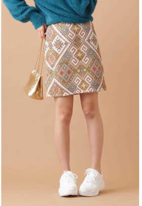 Free's Mart (フリーズ マート) - FREE'S MART 幾何学柄台形ミニ丈スカート