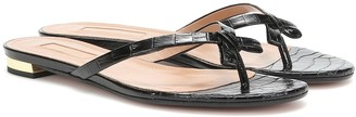Aquazzura Riva croc-effect leather sandals