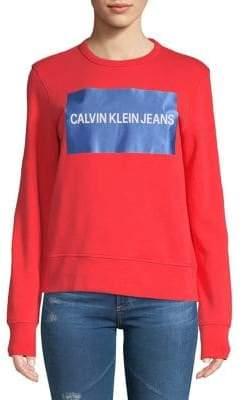 Calvin Klein Jeans Wordmark Cotton Sweatshirt