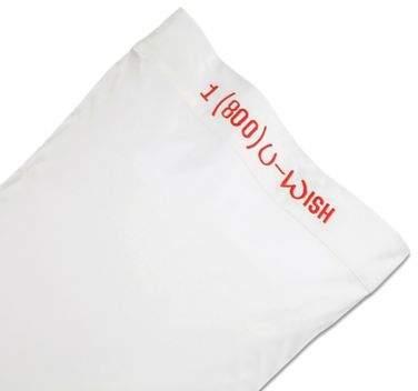 Chatter Box 1 (800) U-Wish Standard Pillowcase in White
