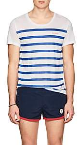 KATAMA Men's Ross Striped Tissue-Weight T-Shirt - White