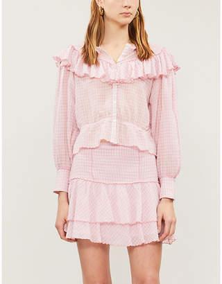 LoveShackFancy Amy ruffle-tiered cotton mini skirt