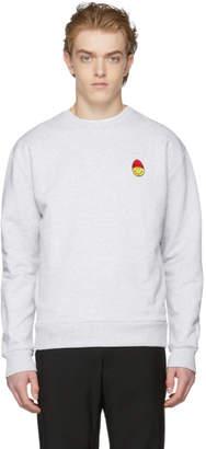 Ami Alexandre Mattiussi Grey Smiley Edition Sweatshirt