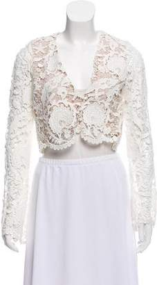 Stone_Cold_Fox Stone Cold Fox Cropped Guipure Lace Jacket