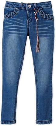 DKNY Girls 7-16) Lace-Up Pocket Skinny Ankle Jeans